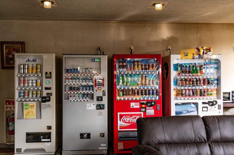 ビールも買える自動販売機