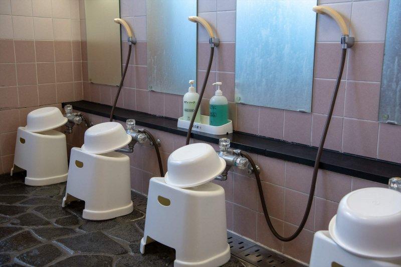 女性用の洗い場